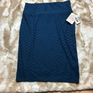 New LuLaRoe Women's Cassie Skirt Dark Teal Size XL